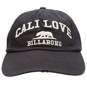 NWOT Billabong Black Cali Love Backstrap Hat
